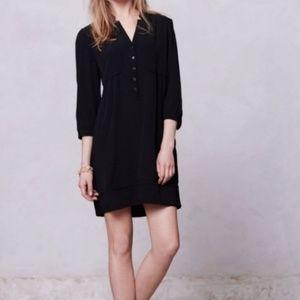 Anthropologie Maeve Black Shirt Dress
